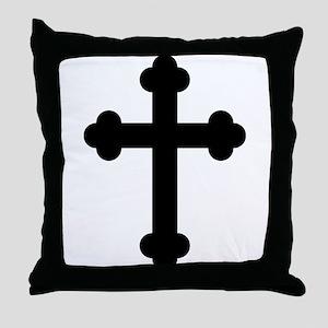 Budded Cross Throw Pillow