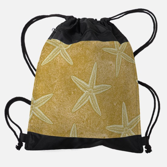 Sand Starfish Pattern Drawstring Bag