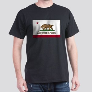 Smilodon California Flag Dark T-Shirt