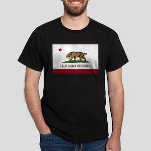 Smilodon California Flag Dark T-Shirt