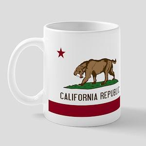 Smilodon California Flag Mug