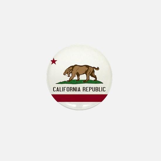Smilodon California Flag Mini Button