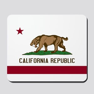 Smilodon California Flag Mousepad