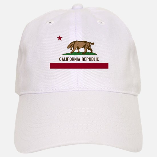 Smilodon California Flag Baseball Baseball Cap