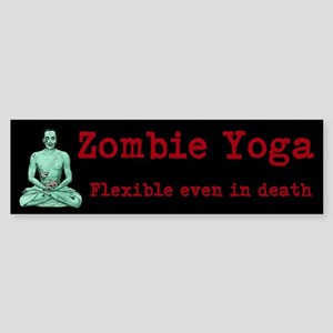 Zombie Yoga Sticker (Bumper)