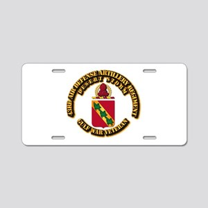 Army - DS - 43RD ADA RGT Aluminum License Plate