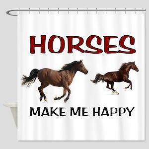HAPPY HORSES Shower Curtain