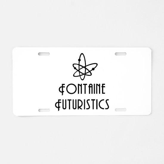 Fontaine Futuristics Aluminum License Plate
