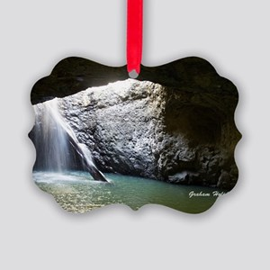 Natural Arch Waterfall Picture Ornament