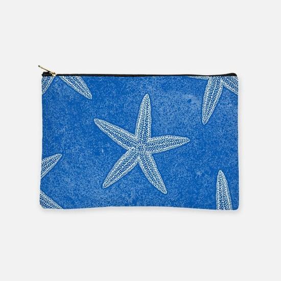 Blue Starfish Pattern Makeup Pouch