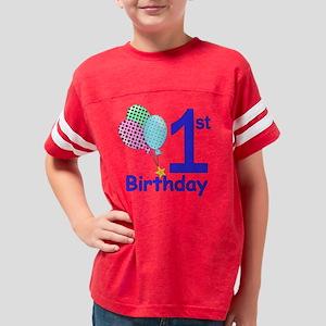 1st Birthday Boy Youth Football Shirt