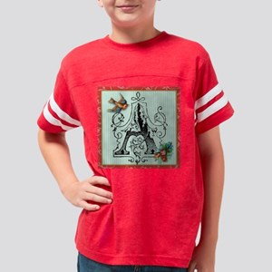 Vintage initial t design Youth Football Shirt