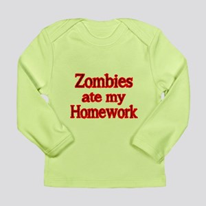 ZOMBIES ATE MY HOMEWORK 2 Long Sleeve T-Shirt