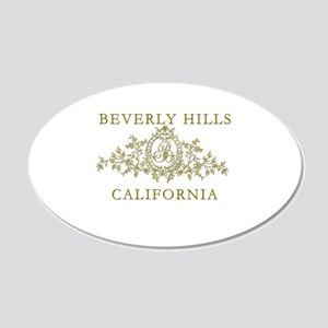Beverly Hills CA 20x12 Oval Wall Decal