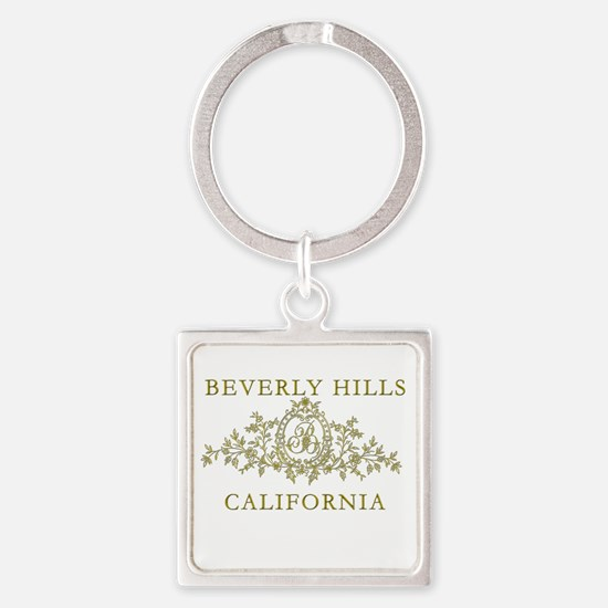 Beverly Hills CA Square Keychain