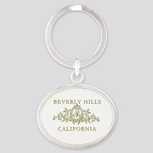 Beverly Hills CA Oval Keychain