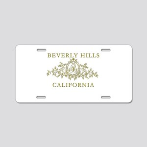 Beverly Hills CA Aluminum License Plate