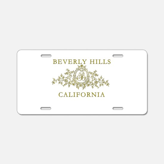 Beverly Hills CA Aluminum License Plate