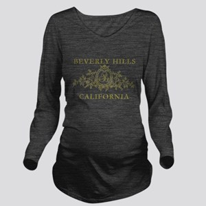 Beverly Hills CA Long Sleeve Maternity T-Shirt