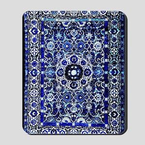Oriental Rug Electric Blue Mousepad