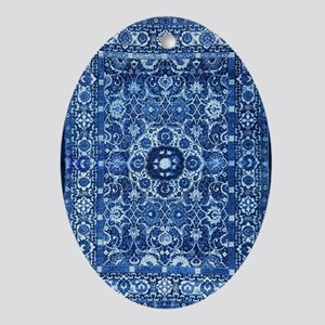 Oriental Rug Blue Oval Ornament