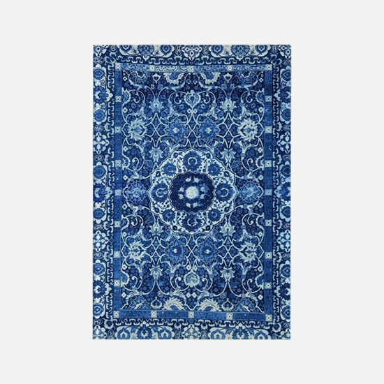 Oriental Rug Blue Rectangle Magnet