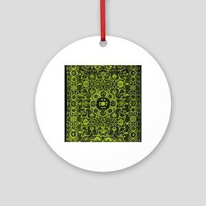 Oriental Rug Green Round Ornament