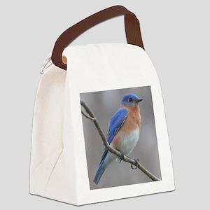 Eastern Bluebird Canvas Lunch Bag