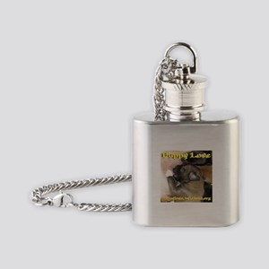 ARF! Animal Rescue Fundraising. Flask Necklace