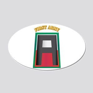 SSI - First Army with Text 20x12 Oval Wall Decal