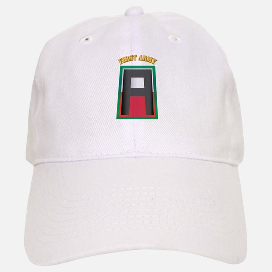 SSI - First Army with Text Baseball Baseball Cap
