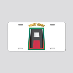 SSI - First Army with Text Aluminum License Plate