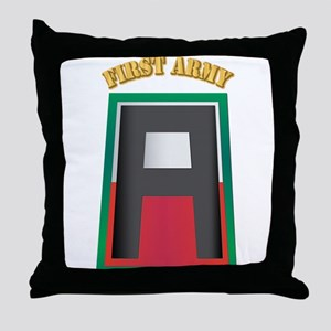 SSI - First Army with Text Throw Pillow