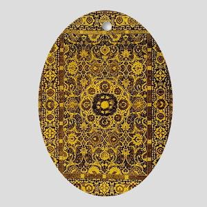 Oriental Rug Brown Oval Ornament