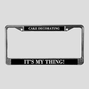 Cake Decorating License Plate Frame