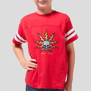 flame-leaf-skull-DKT Youth Football Shirt