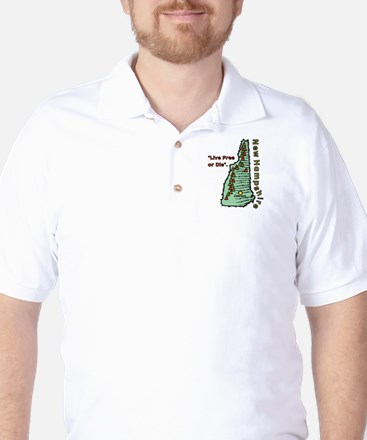 New Hampshire - Live Free or Die Golf Shirt