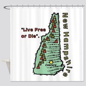 New Hampshire - Live Free or Die Shower Curtain