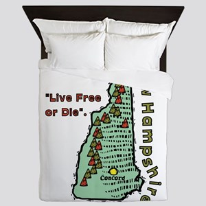 New Hampshire - Live Free or Die Queen Duvet