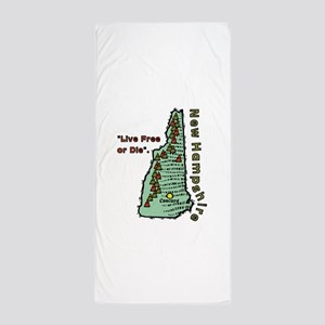 New Hampshire - Live Free or Die Beach Towel