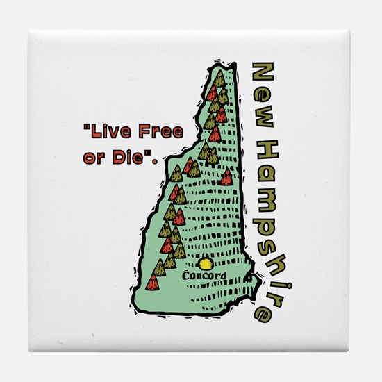 New Hampshire - Live Free or Die Tile Coaster