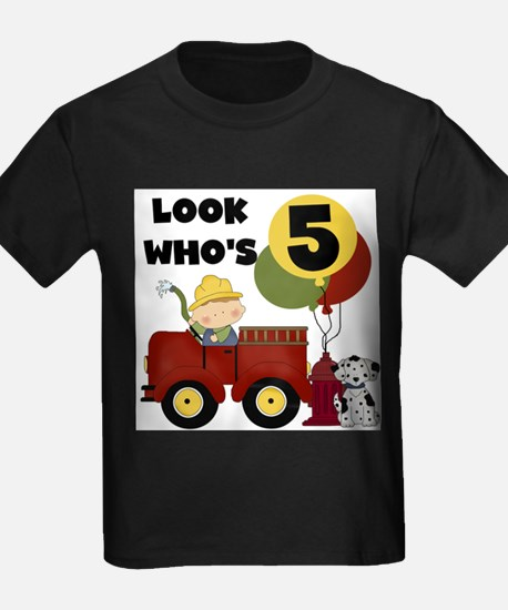 Fireman 5th Birthday T-Shirt