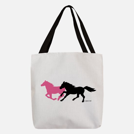 Horses (B&P) Polyester Tote Bag