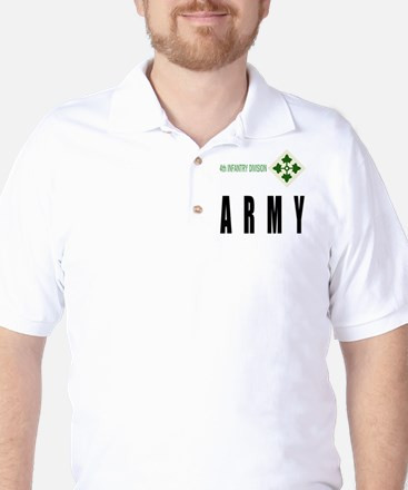 4th INFANTRY DIVISION Golf Shirt