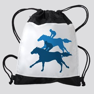 Horse Racing Drawstring Bag