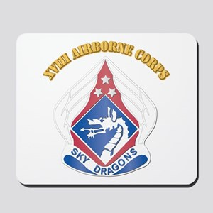 DUI - XVIII Airborne Corps with Text Mousepad