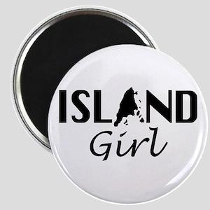 Island Girl black Magnets
