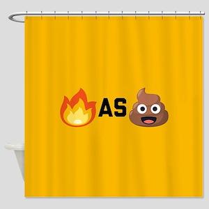 Lit as Shit Emoji Shower Curtain