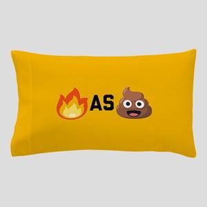 Lit as Shit Emoji Pillow Case