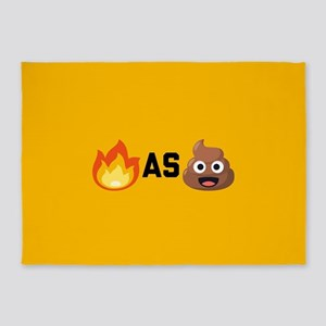 Lit as Shit Emoji 5'x7'Area Rug